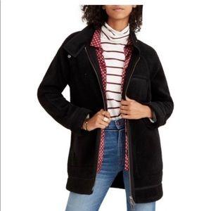 NWT Madewell City Grid Sherpa Coat in True Black